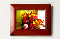 "Century 4"" x 6"" Solid Wood Photo Frame ‐ Cherry Finish"
