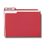 Top Tab Poly File Folder, 1/3 Cut Letter - Raspberry